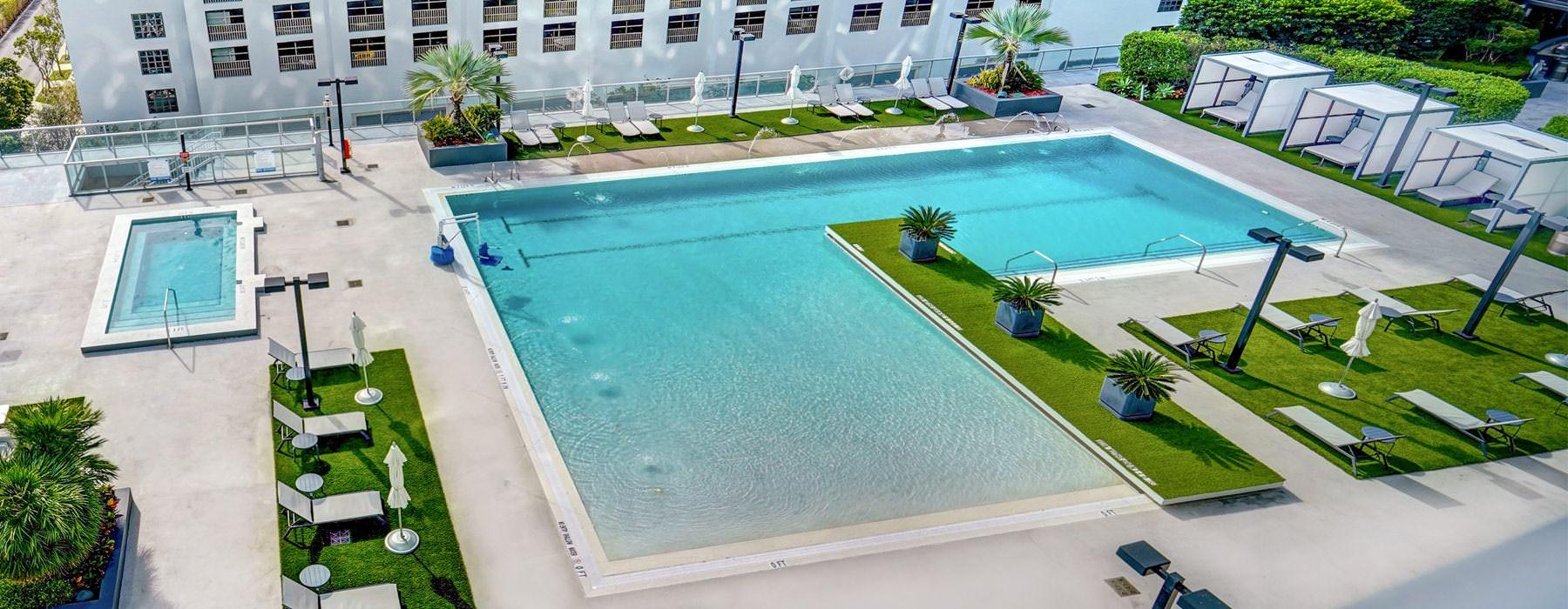 aerial view of zero swimming pool area